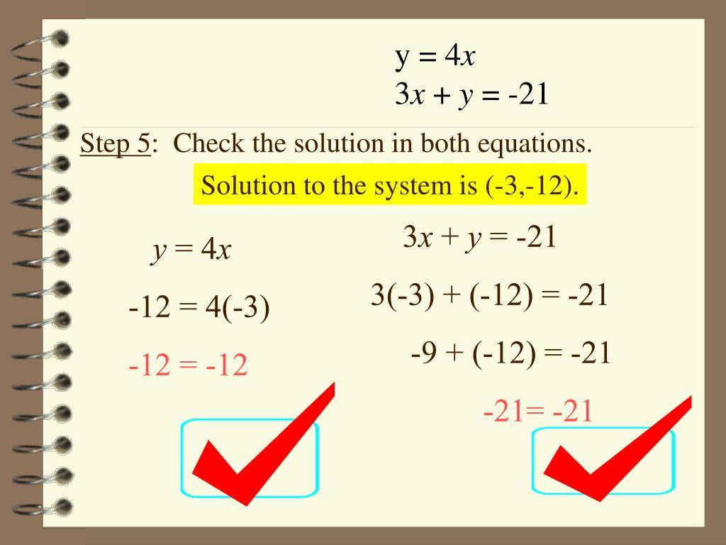 y = 4
