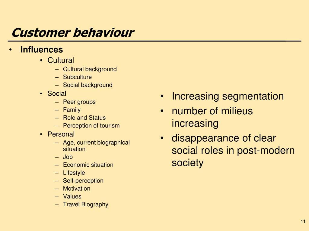 Customer behaviour