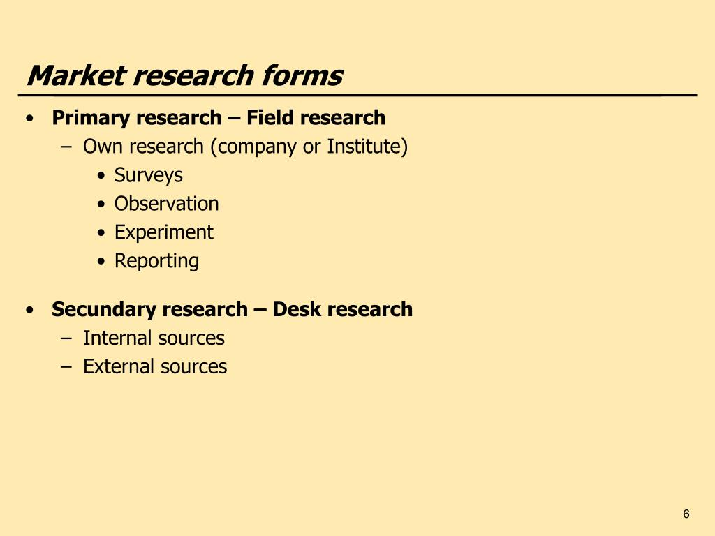Market research forms