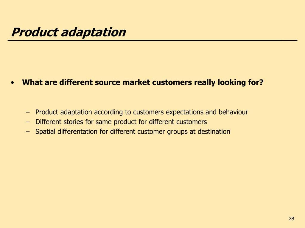 Product adaptation