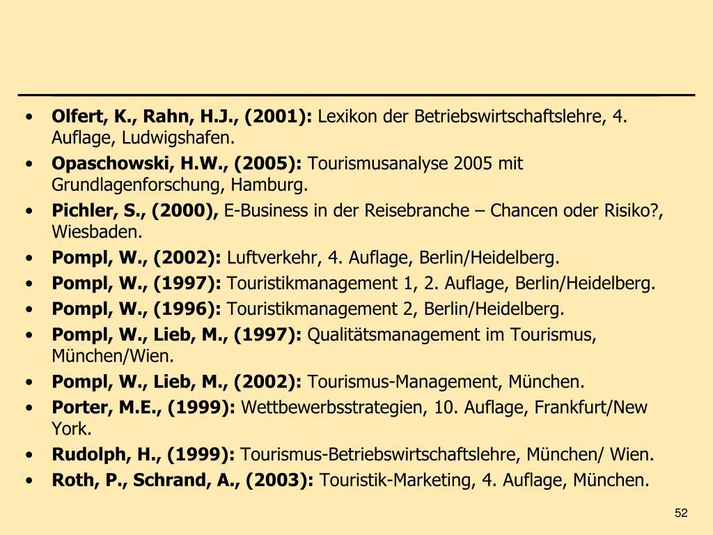 Olfert, K., Rahn, H.J., (2001):