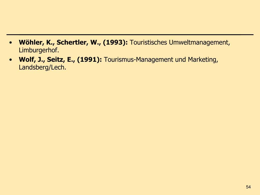 Wöhler, K., Schertler, W., (1993):