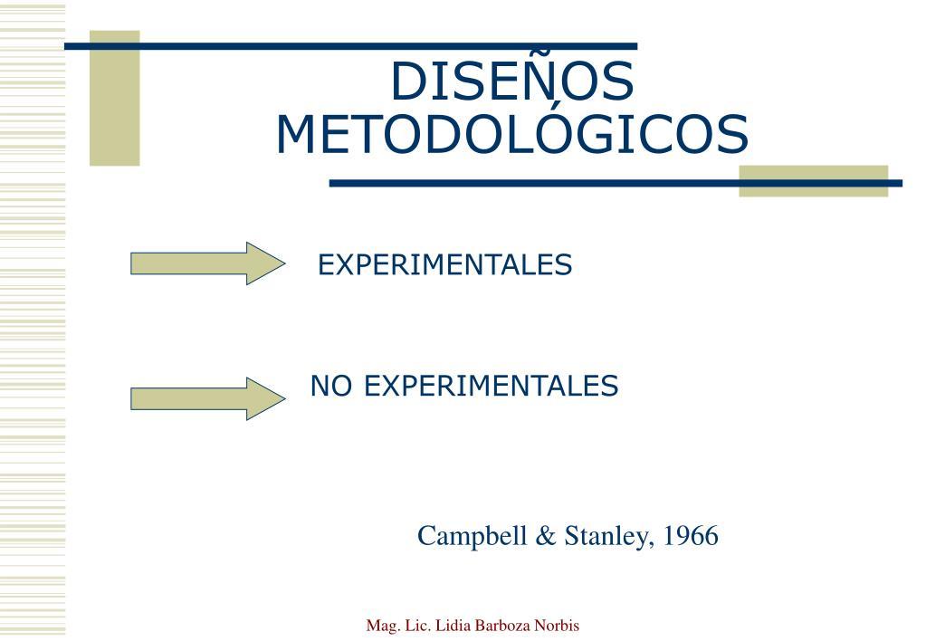 DISEÑOS METODOLÓGICOS