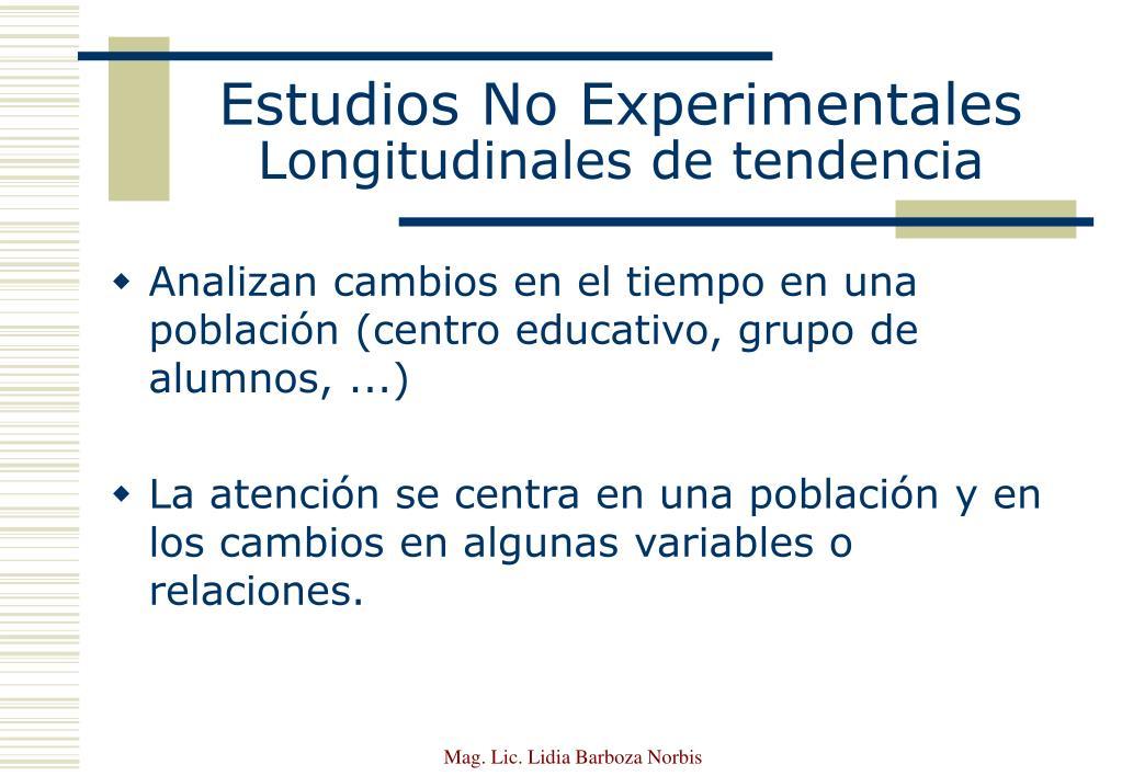 Estudios No Experimentales