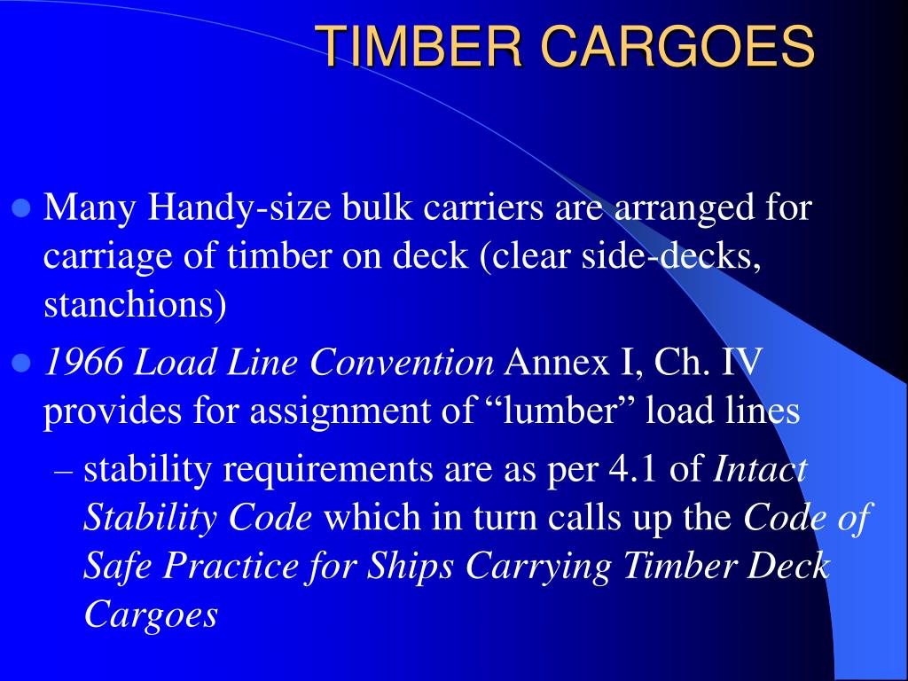 TIMBER CARGOES
