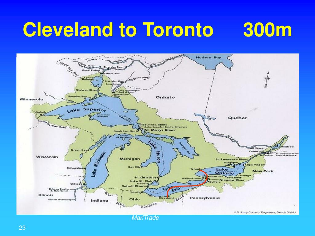 Cleveland to Toronto 300m
