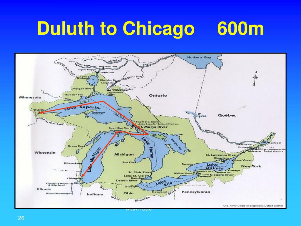 Duluth to Chicago	600m