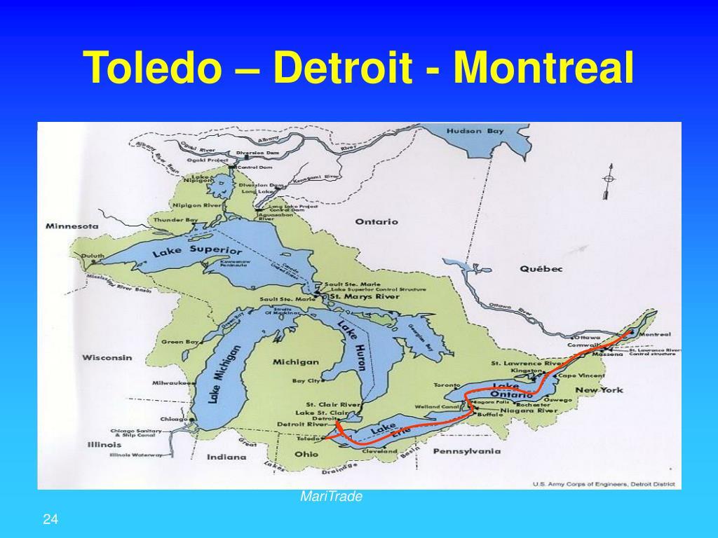 Toledo – Detroit - Montreal