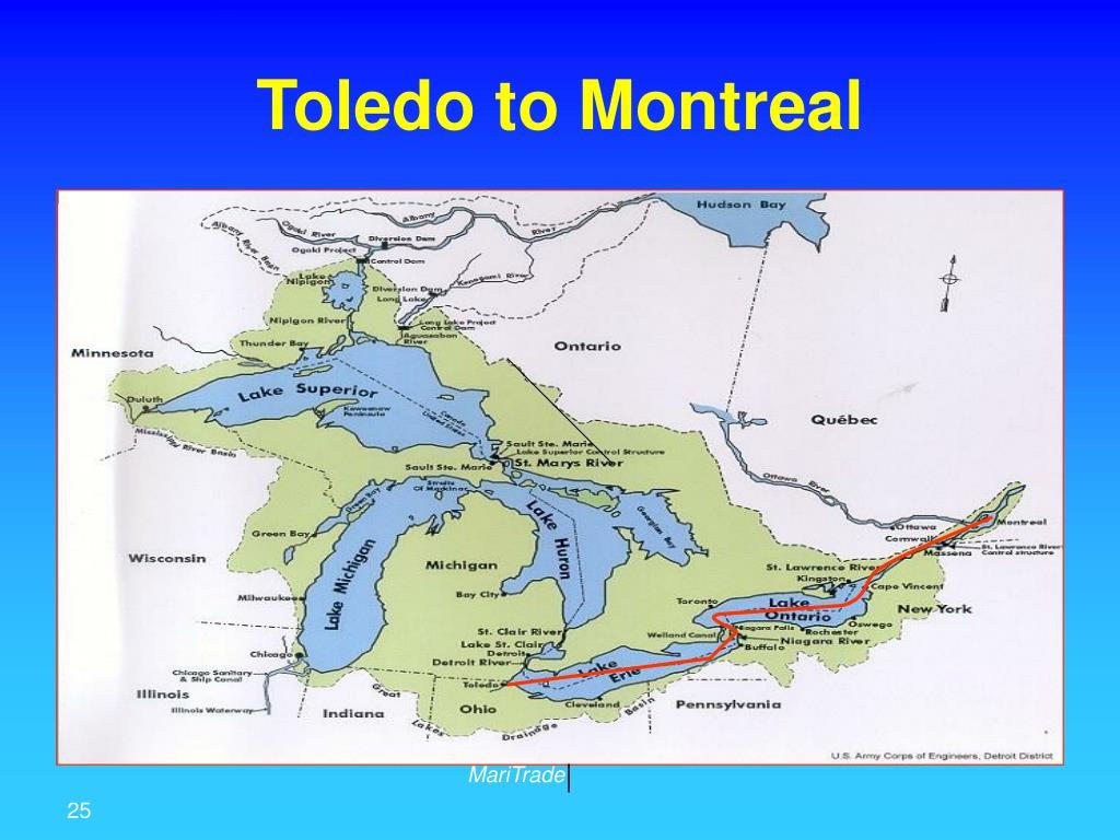 Toledo to Montreal