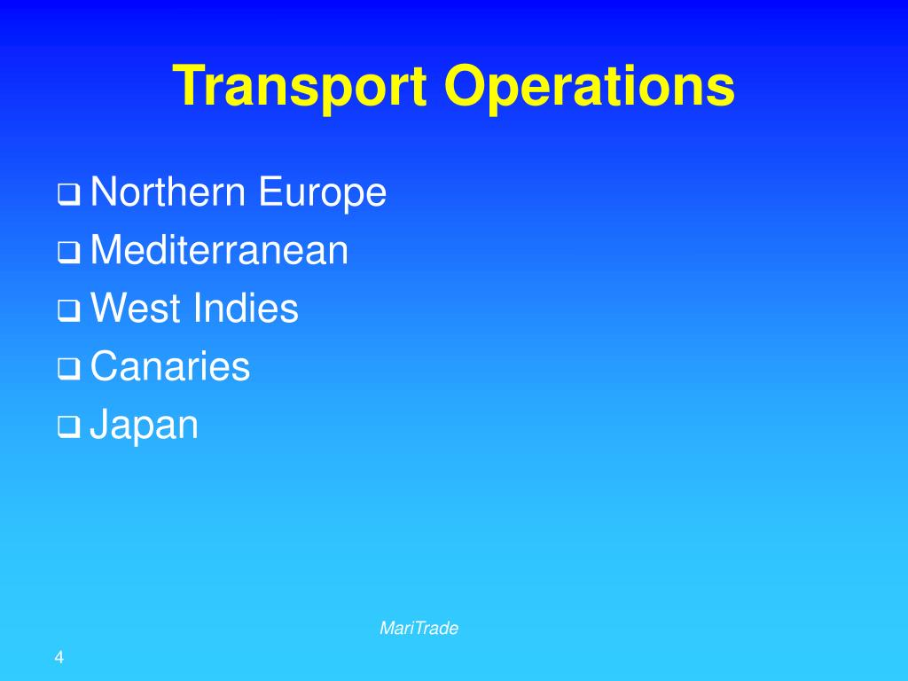 Transport Operations