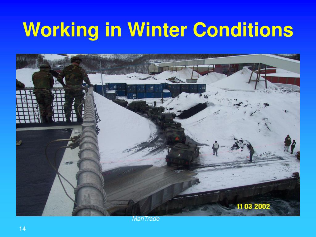 Working in Winter Conditions