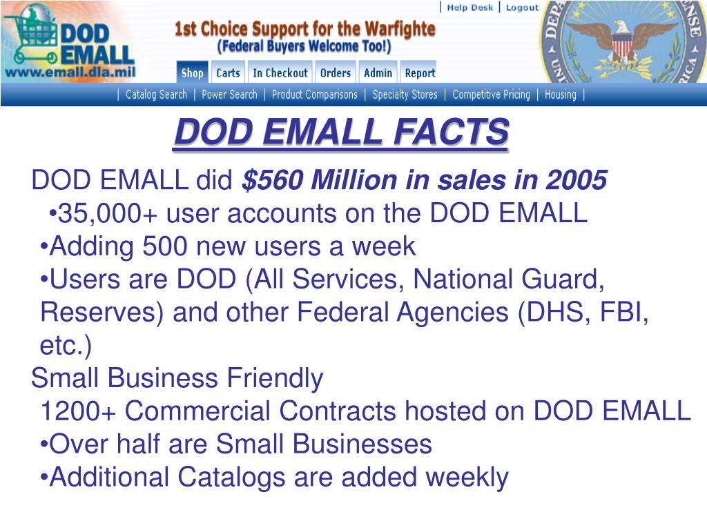 DOD EMALL FACTS