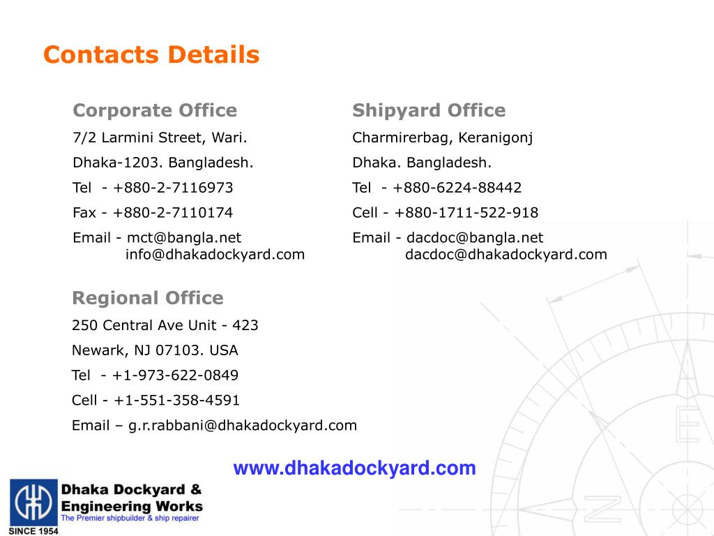 Contacts Details