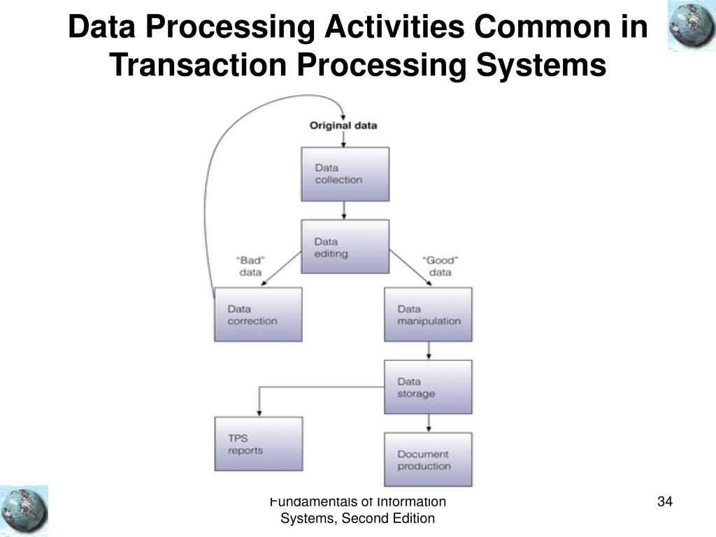 Data Processing Activities Common in Transaction Processing Systems