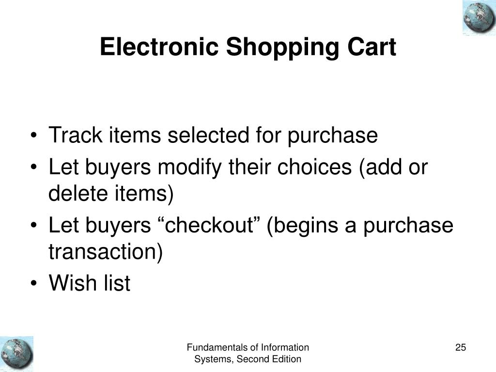 Electronic Shopping Cart