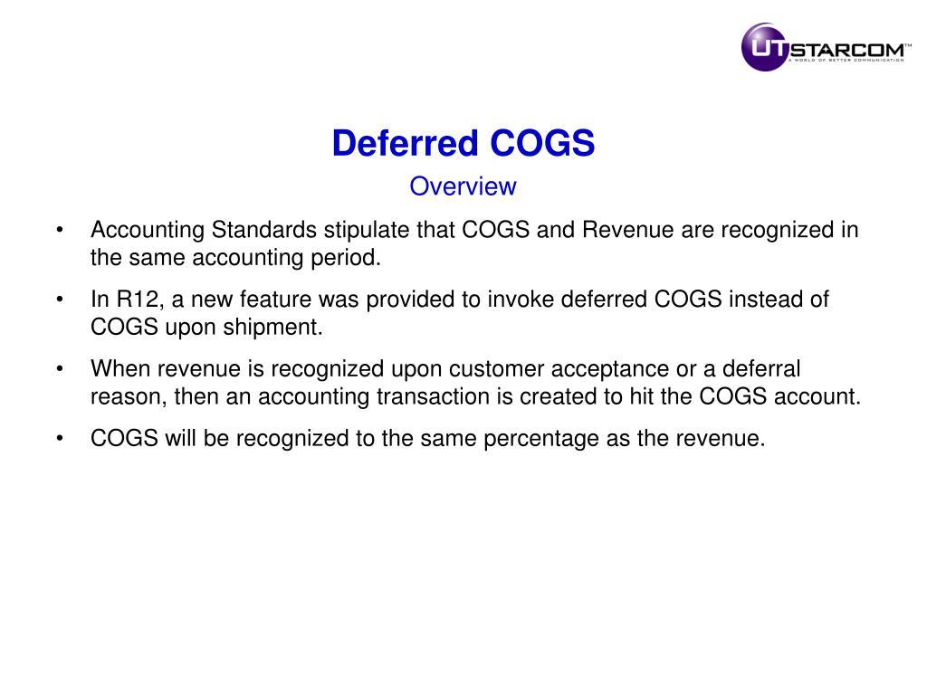 Deferred COGS