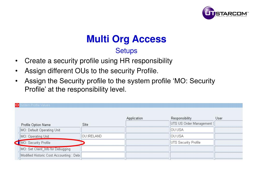 Multi Org Access