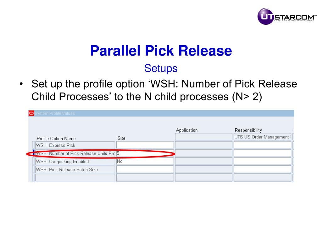 Parallel Pick Release