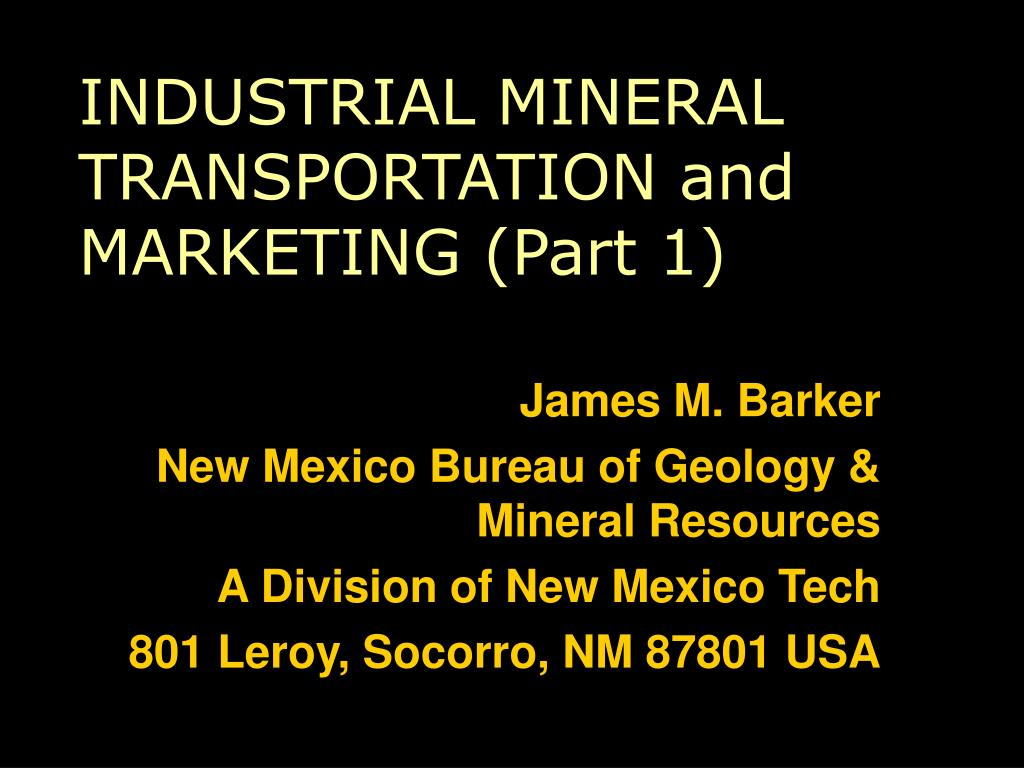 INDUSTRIAL MINERAL TRANSPORTATION and