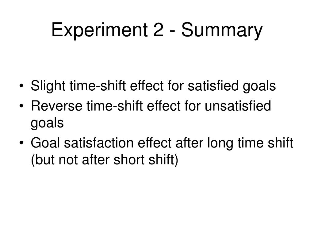 Experiment 2 - Summary