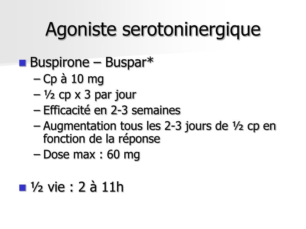 Agoniste serotoninergique