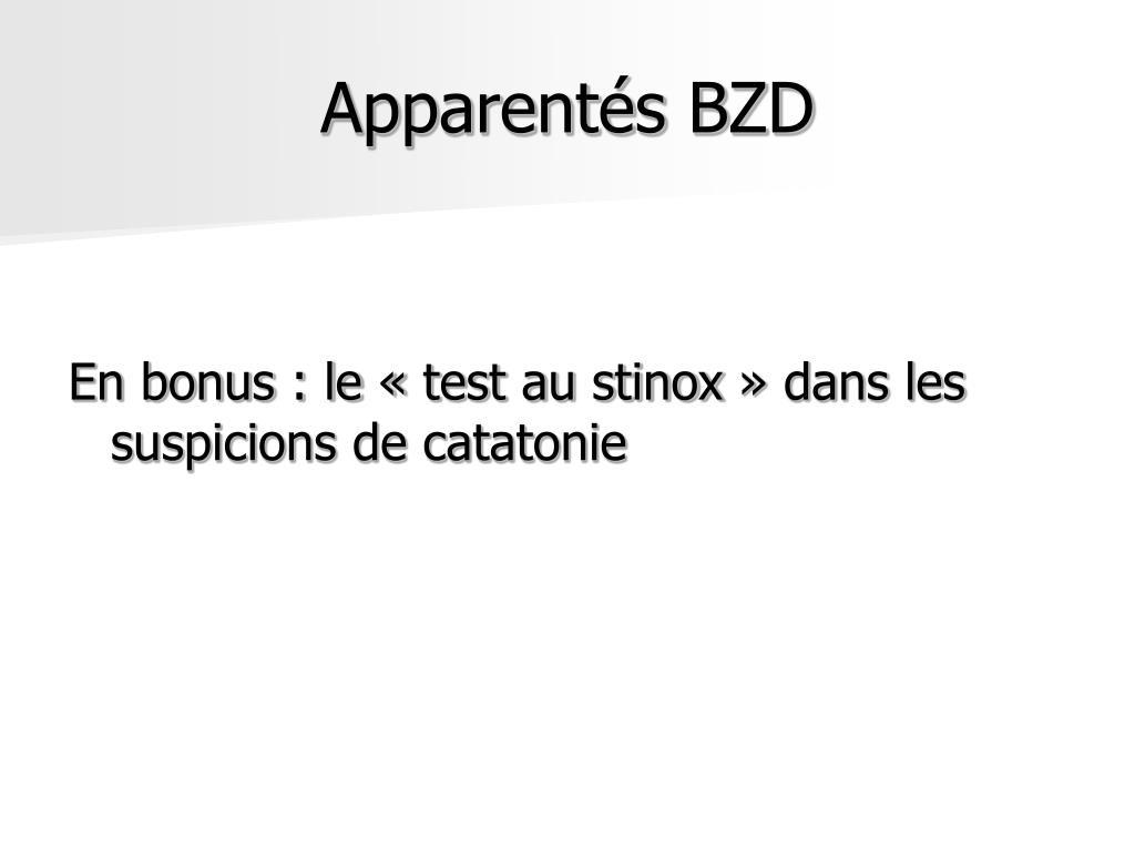 Apparentés BZD