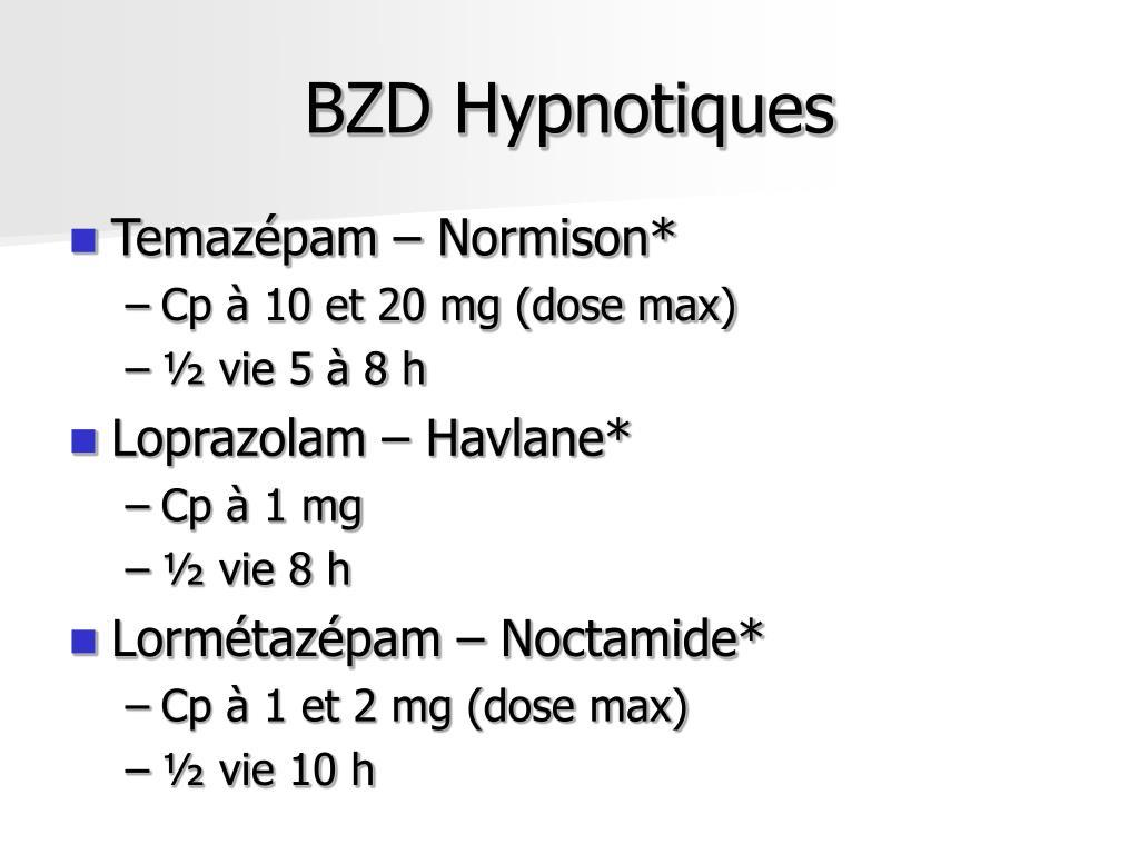 BZD Hypnotiques