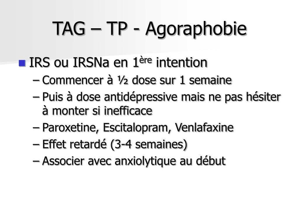 TAG – TP - Agoraphobie