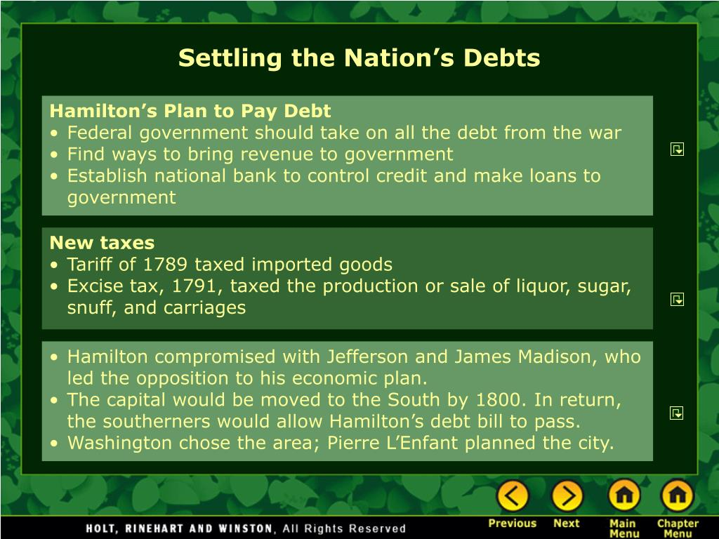 Settling the Nation's Debts