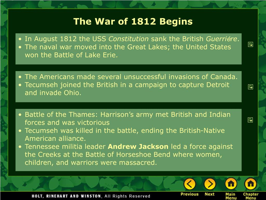 The War of 1812 Begins