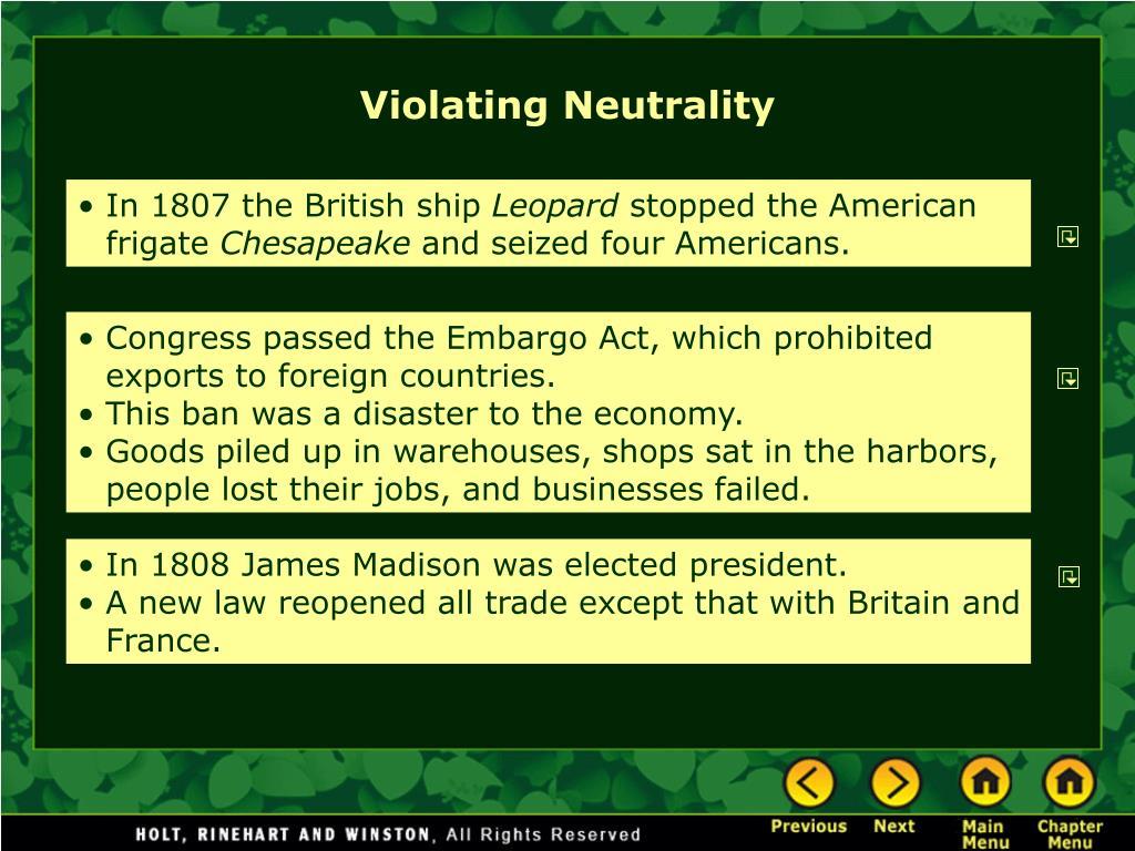 Violating Neutrality