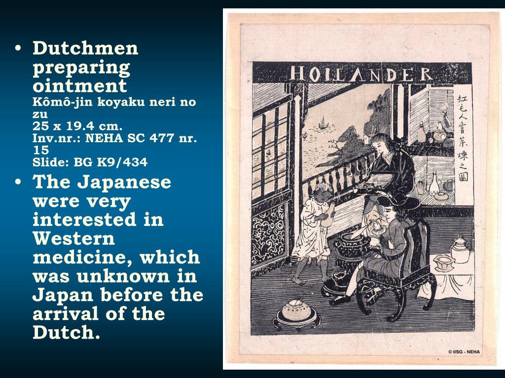 Dutchmen preparing ointment