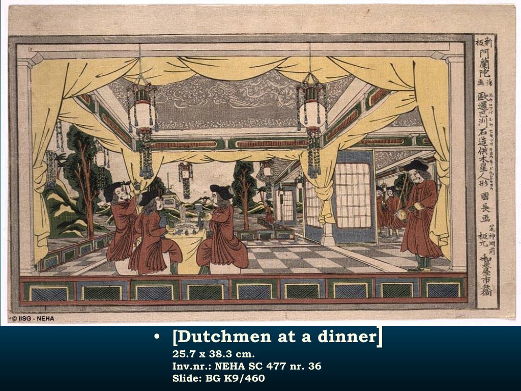 [Dutchmen at a dinner