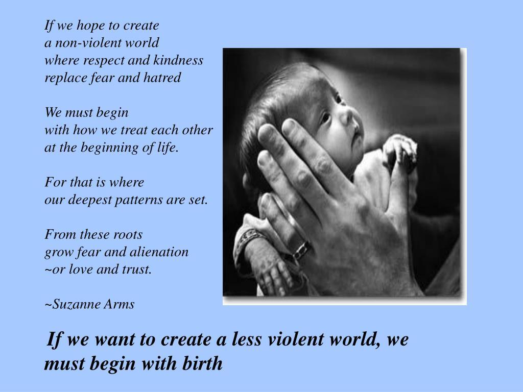 If we hope to create