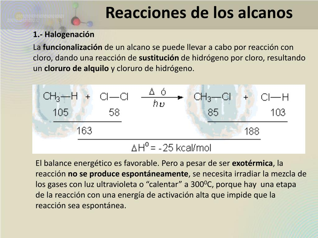 Reacciones de los alcanos