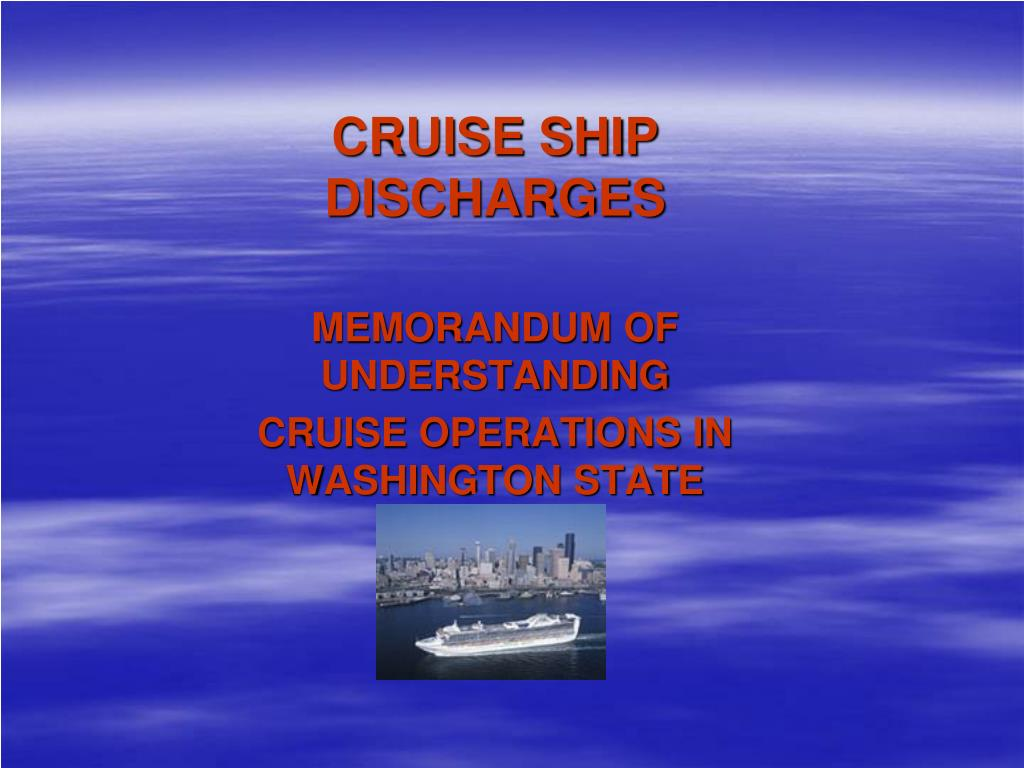CRUISE SHIP DISCHARGES