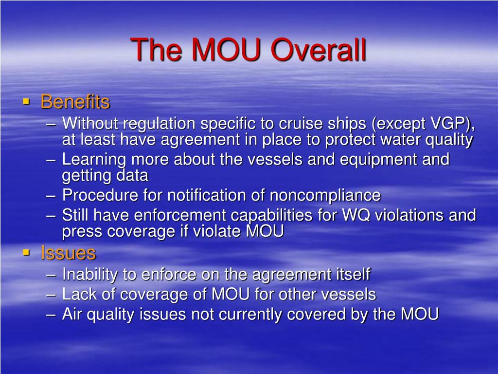 The MOU Overall