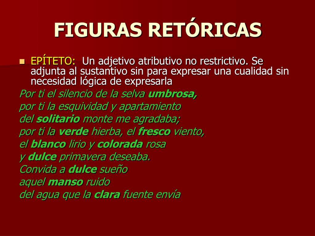 FIGURAS RETÓRICAS