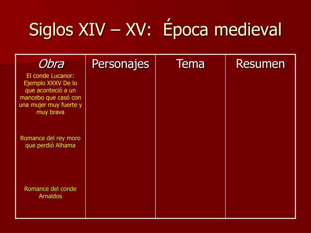 Siglos XIV – XV: