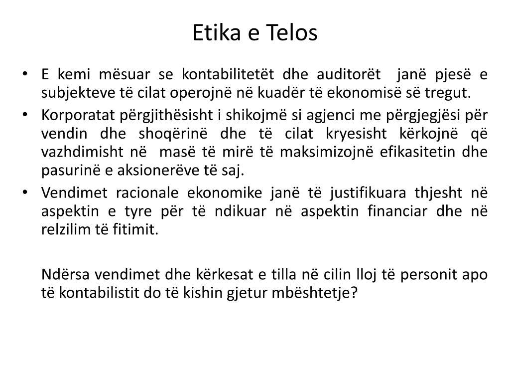 Etika e Telos