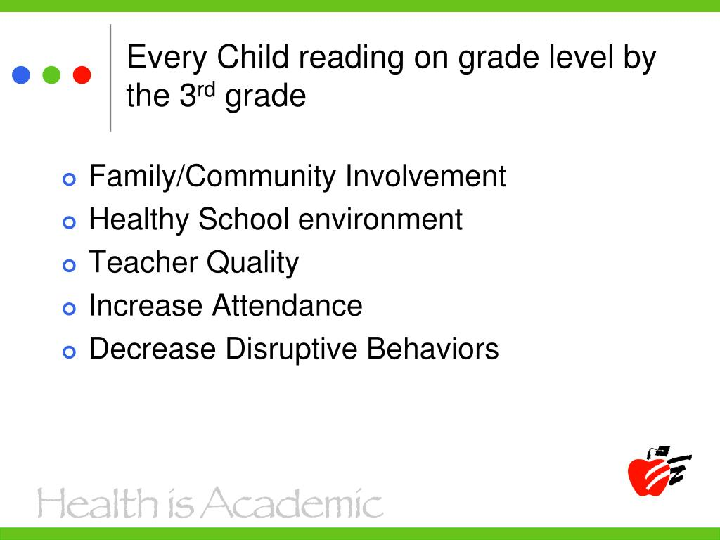 Every Child reading on grade level by the 3