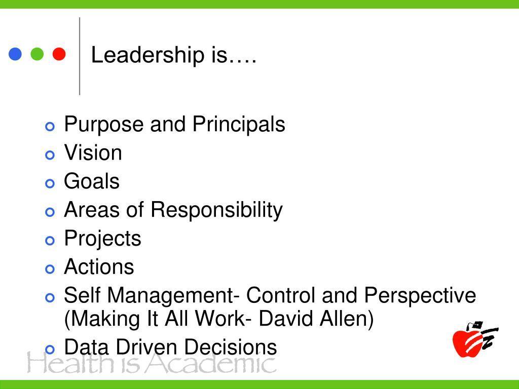 Leadership is….