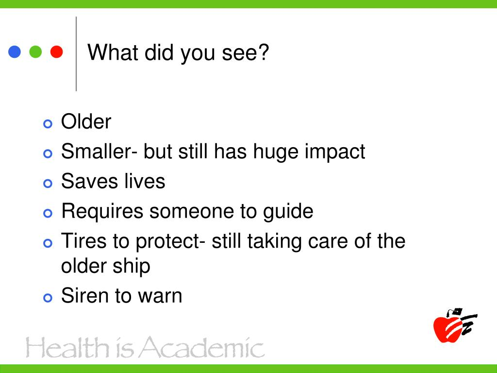 What did you see?