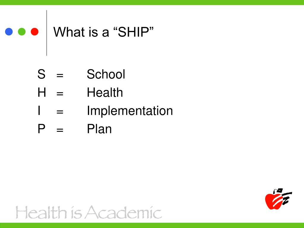 """What is a """"SHIP"""""""