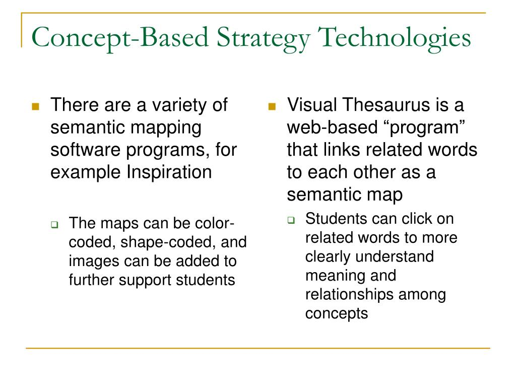 There are a variety of semantic mapping software programs, for example Inspiration