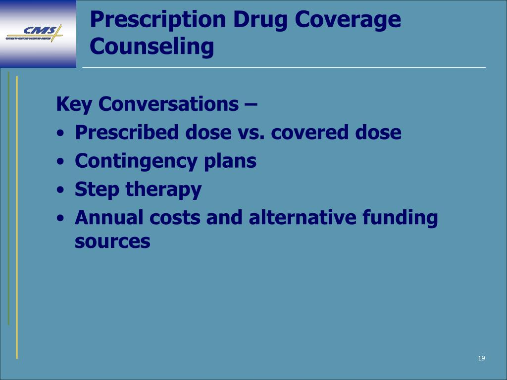 Prescription Drug Coverage Counseling