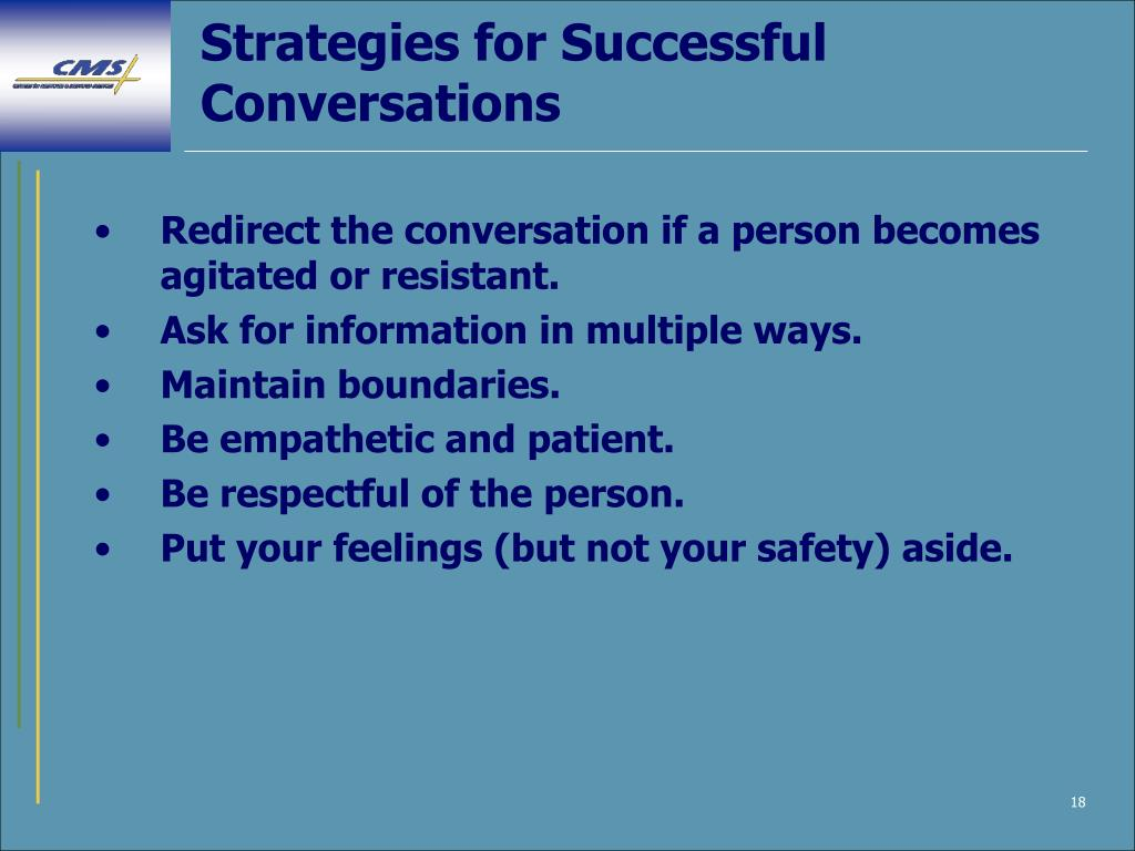 Strategies for Successful Conversations