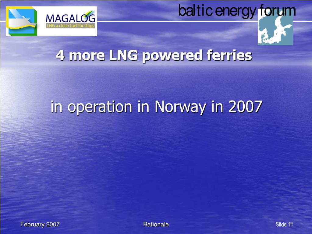 4 more LNG powered ferries