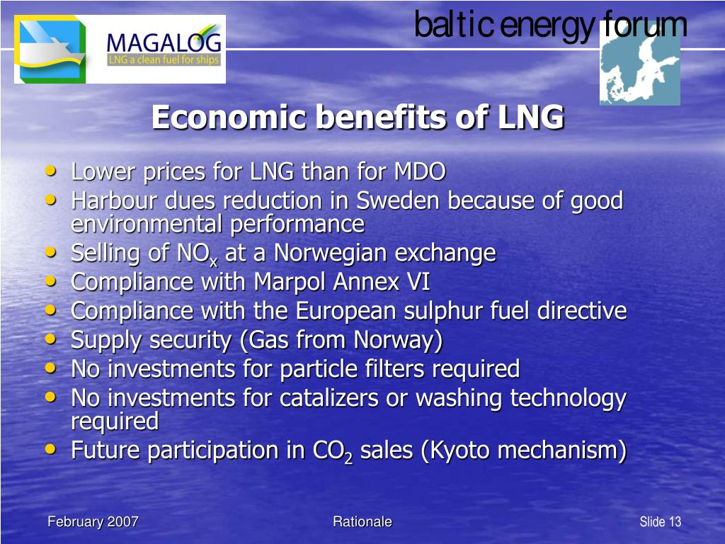 Economic benefits of LNG