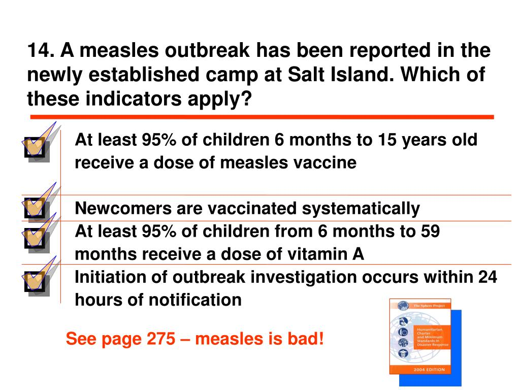 See page 275 – measles is bad!